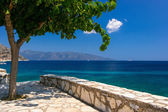 Kefalonia beach and Ionian sea in the Greece — Stok fotoğraf