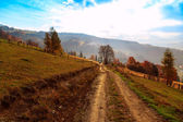 Colorful autumn landscape in the mountains — Stock Photo