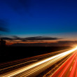 Cars speeding on a highway — Stock Photo #43172977