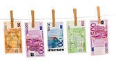 Euro money laundering — Stock Photo