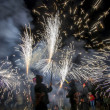 Stock Photo: Correfoc ( motion image )