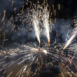 Correfoc ( motion image ) — Stock Photo