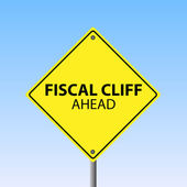Fiscal Cliff Ahead — Stock Vector