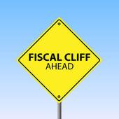 Fiscal Cliff Ahead — Stock Vector