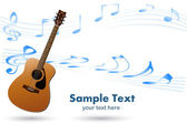 Acoustic Guitar Musical Background — Stock Vector