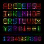 Colorful Digital Font, Vector Illustration — Stock Photo