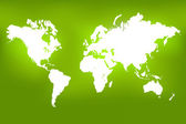 World Map Green, Vector Illustration — Stock Photo