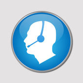 Phone Support Button, Vector Illustration — Stock Photo