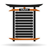 Karate Belt Rack — Stock Vector