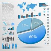 Infographics Elements, Vector Illustration — Stock Vector