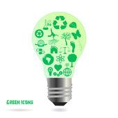 Eco Bulb — Stock Vector