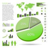 Infographics, Vector Illustration — Stock Vector