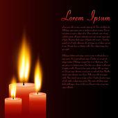 Kerzen, vektor-illustration — Stockvektor