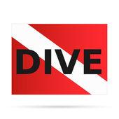 Scuba Dive Flag, Illustration — Stock Vector