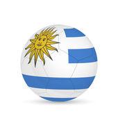 Balón de fútbol de uruguay — Vector de stock
