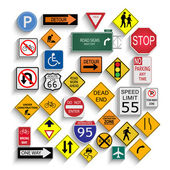 Road Signs — Vettoriale Stock