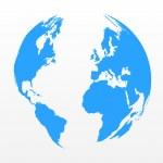 World Map Sphere — Stock Vector #46534541