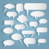 Paper Chat Bubbles Illustration — Stockvector