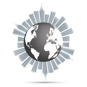 Earth City — Stock Vector