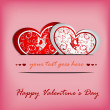 Royalty-Free Stock Vector: Valentines day card