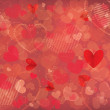 Valentines day background with hearts — Stock Vector #18548353