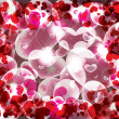 Abstract Valentines day background with hearts — Stock Vector