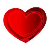 Abstracte rood hart vorm — Stockvector