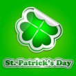 St. Patrick's day card with stickers — Stock Vector