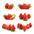 Set of a fresh strawberries — Stock Photo #22286525