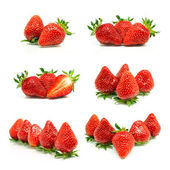 Set of a fresh strawberries — Stock Photo