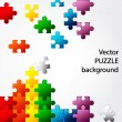 Colorful Puzzle vector design — Stok Vektör