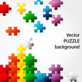 Colorful Puzzle vector design — Stock Vector