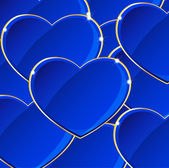 Pozadí modré srdce — Stock vektor