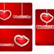 Set of gift cards to Valentine's day — Stock Vector