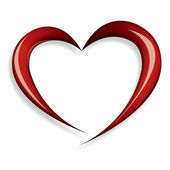 Elegant red heart shape — Vector de stock
