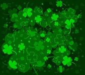 Green background with clovers — Stock Vector