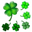 Collection of four-leaf clovers — Stock Vector #39170885