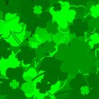 Stock Vector: St. Patrick's day background with clovers