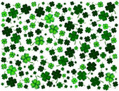 St. Patrick's day background with clovers — Stock Vector