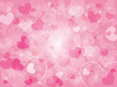 Valentine's day background with hearts — Stockvector