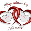 Valentine's day card with place for your photo — Stock Vector