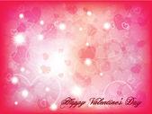 Valentinstag hintergrund mit herzen — Stockvektor