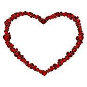 Heart shape from more hearts — Stock vektor