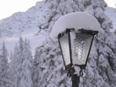 Snow lantern — Stock Photo