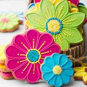 Soubory cookie květ — Stock fotografie