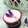 Lavender cupcakes - Stock Photo