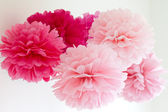 Tissue pompoms — Stock Photo