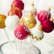 Christmas cake pops — Stock Photo