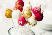 Christmas cake pops — Stockfoto