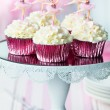 Ballerina cupcakes — Stock Photo